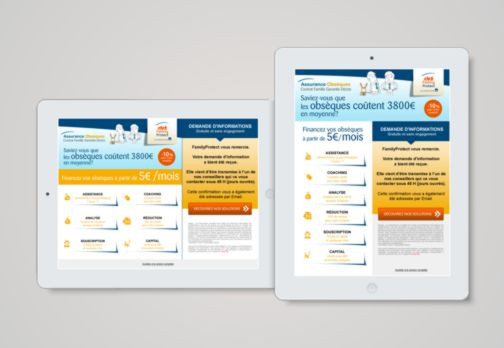 FamilyProtect Landing Pages Tablettes France